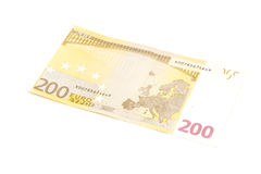 Two hundred euro banknote. Isolated on a white background Stock Image