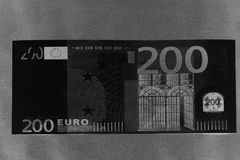 Two Hundred Euros. 200 Euro With One Note. 200 Euro. Royalty Free Stock Photos