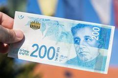Two hundred israeli new shakel bill Stock Images