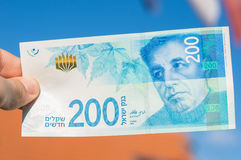 Two hundred israeli new shakel bill Royalty Free Stock Images