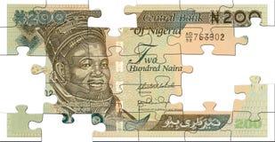 Two hundred naira puzzle Stock Photos