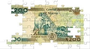 Two hundred naira puzzle Royalty Free Stock Photography