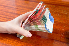 Two hundred shekel bank notes . Royalty Free Stock Images