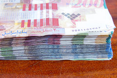 Two hundred shekel bank notes . Stock Images