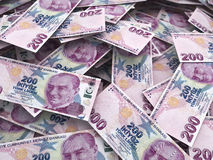 Two hundred turkish lira Royalty Free Stock Photos