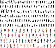 Two hundred woman vector illustrations. Two hundred 200 woman vector illustrations Stock Images