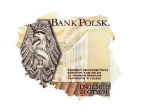 Two hundred zloty closeup Royalty Free Stock Image
