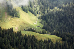 Two huts in the bavarian alps Royalty Free Stock Photography
