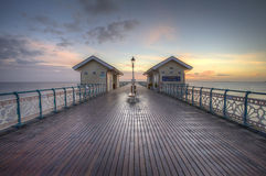 Two huts. On a pier in South Wales Royalty Free Stock Image