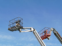 Two hydraulic lift platforms Stock Photos
