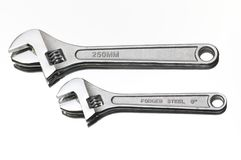 Two hydraulic wrenches Stock Images