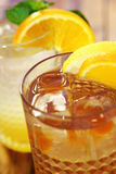Two ice cold glasses of fruit beverages Stock Photography