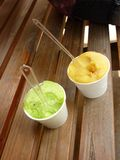 Two Ice-cream cups Stock Photography