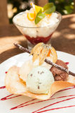 Two ice cream desserts Stock Photo