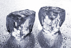 Two ice cubes royalty free stock photography
