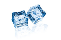 Two ice cubes Stock Photos