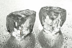 Two ice cubes Royalty Free Stock Image