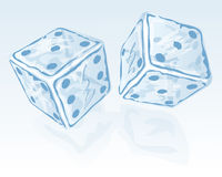 Two ice dices Royalty Free Stock Photo
