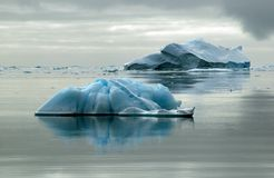 Two icebergs Stock Photo