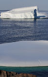 Two Icebergs Close to Shore Stock Photos