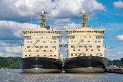 Two Icebreakers. Helsinki, Finland, EU Stock Photo