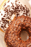 Two iced donuts Royalty Free Stock Photo
