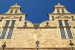 Two identical bell gables Stock Photo