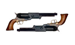Two identical old metal colt Stock Photos