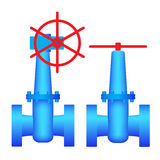 Two images valves. Royalty Free Stock Photo