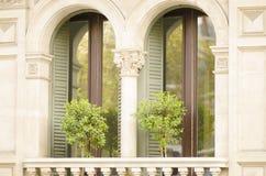 Two Imposing Windows Royalty Free Stock Photos