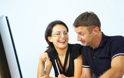 Two In The Office Stock Photos
