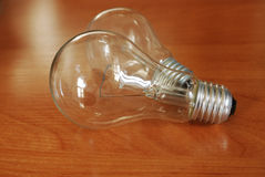 Two incandescent bulbs Royalty Free Stock Photos