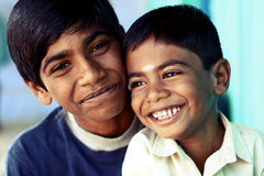 Two Indian boys Royalty Free Stock Photos
