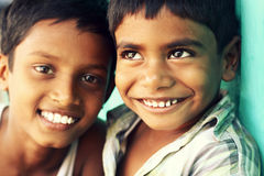 Two Indian boys Stock Photos