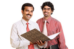 Two Indian business people Stock Photo