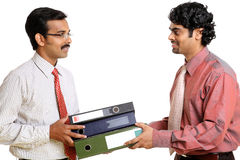 Two Indian business people Royalty Free Stock Images