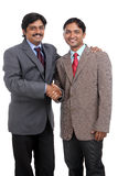 Two Indian business people shaking hands Royalty Free Stock Photo
