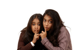 Two indian girl friends Stock Images