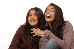 Two indian girl friends Stock Image