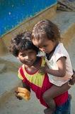Two indian girl in slum Stock Photography
