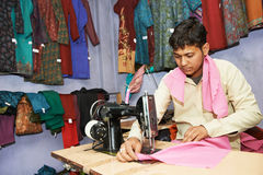 Two indian man tailors Stock Photos