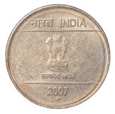 Two Indian Rupee coin Stock Images