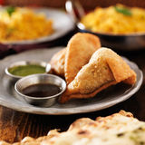 Two indian samosa Stock Images