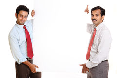 Two Indian young business people Royalty Free Stock Photo