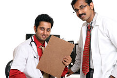 Two Indian young doctor in hospital Royalty Free Stock Images