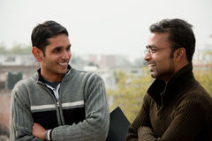 Two indian young happy people Stock Photo