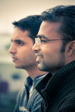 Two indian young happy people Stock Photography
