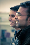 Two indian young happy people Royalty Free Stock Image