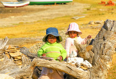 Two Indigenous Children Royalty Free Stock Images