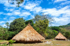 Two Indigenous Huts Stock Photo